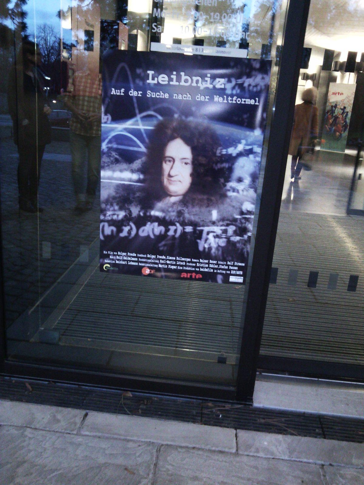 "Plakat der arte-Produktion ""Leibniz"""